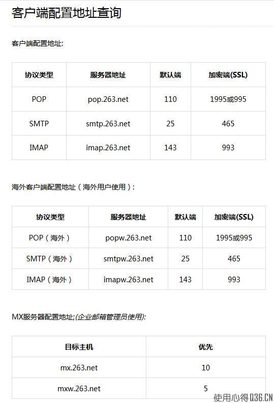 263邮箱如何在0utlook Express邮件客户端中设置IMAP收发邮件?